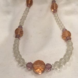 Jewelry - Long beaded crystal necklace